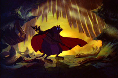 Screenshot of Brutus from the movie The Secret of NIMH